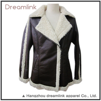 Women Apparel plus size Thick Leather winter Jacket For Custom