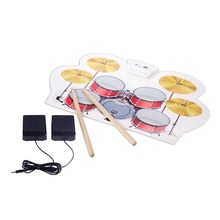 New Design Colorful Silicone Drum Set Pads Electronic MIDI USB Roll Up Drum Kit for Kids