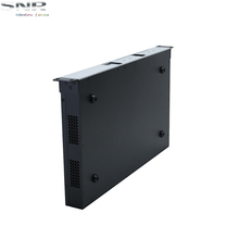 1U rack mount black color surface anodizing for electronic projects chassis
