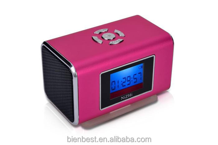 NiZHi TT6 Loudspeaker 6Colors LCD Music Player FM Radio USB TF Slot Mini Multimedia Speaker, Alarm Funtion