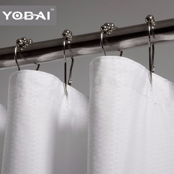 high quality hotel polyester material shower curtain