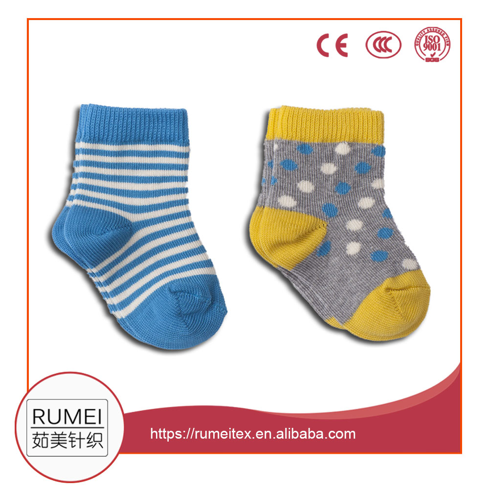 Popular eco friendly Cute jacquard cotton dress cozy mini baby socks