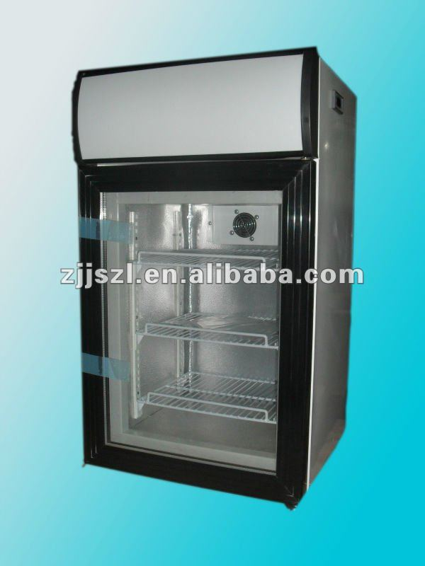 Upright display mini ice cream freezer sd 50l buy for Table top freezer