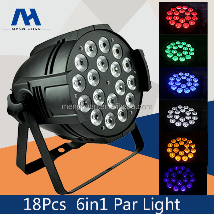 18x18W 6in1 RGBWA UV DJ Stage Show Light Par can China led stage light