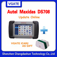 Top-Rated 100% Original Autel MAXIDAS DS708 Scanner Update via Internet Autel Scanner with vgate icar2 Gift In stock