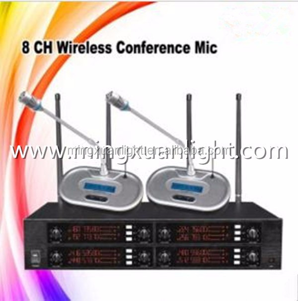GS8008 8Chnnels conference room sound microphone system