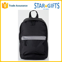 Wholesale Polyester Black Boys Backpack School Bag With Front Zipper Pocket