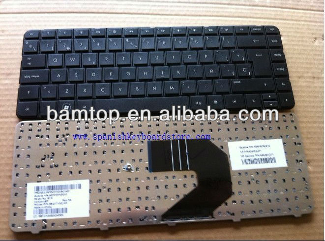for hp laptop keyboard spanish CQ43 G4 G6 black SP 633183-071 643263-071 laptop keyboard