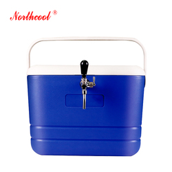 chrome faucet large beer cooler box storage container
