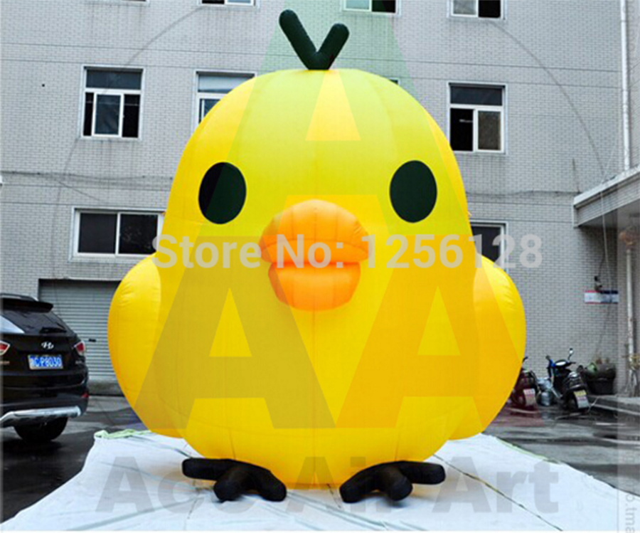 giant Customized Lovely Yellow Inflatable easter chick chicken for decoration 2.5 m H