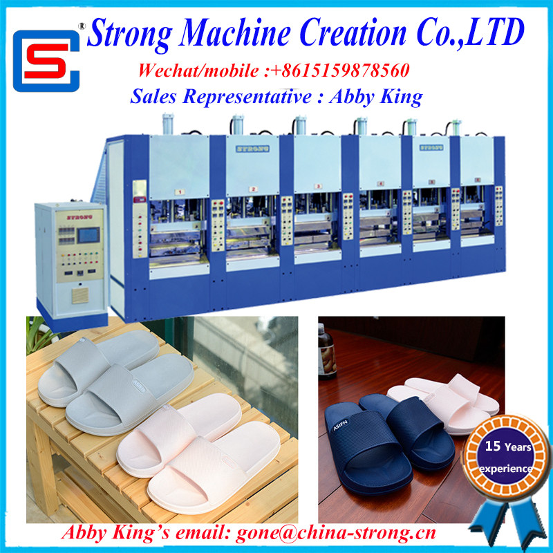 STRONG SINGLE COLOR EVA INJECTION SHOESLIPPER MIDSOLE MOULDING MACHINE
