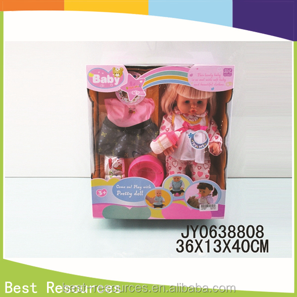 16 inch Modern Dress-up Girl Doll Toys can pee for Children / wholesale doll toys with IC and accossies
