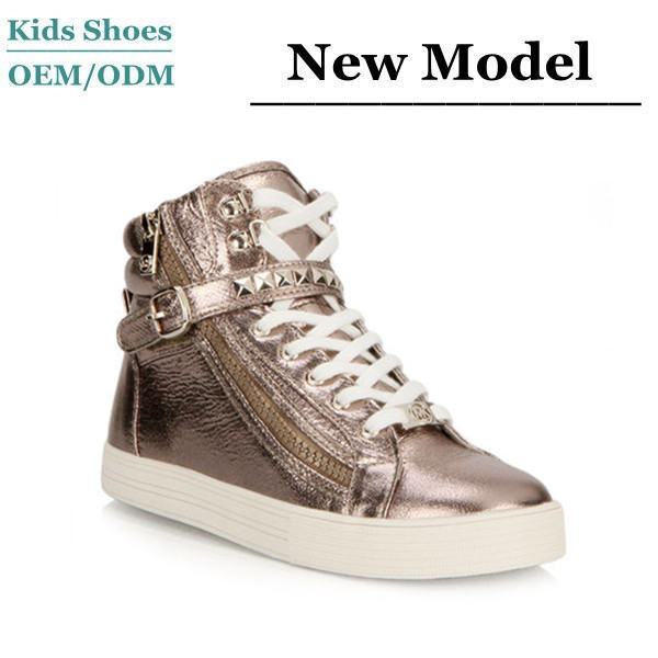 Korean trendy fashion casual shoes women high cut sport sneakers with zipper wholesale girls hip hop sneakers shoes