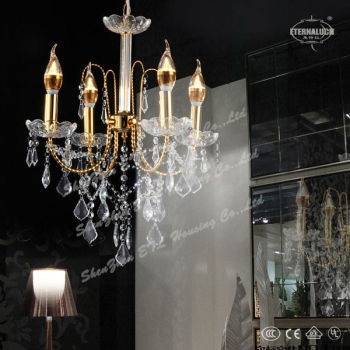 low csot new arriving good shape traditional yellow crystal chandelier lighting from china ETL800022