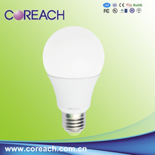 LED fixture plastic and aluminum CE RoHS approval 7w 9w led bulb light e27 from anern list electronic items