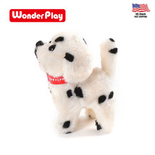 US STOCK Walking dog toy with plush toy <strong>animals</strong>