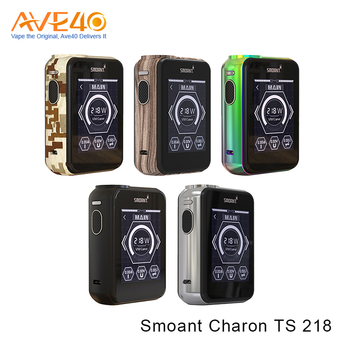 Smoant Charon TS 218 Touch Screen Box Mod, First Touch Screen Mod Charon TS 218W Huge Power,Overheating Protection Charon TS 218