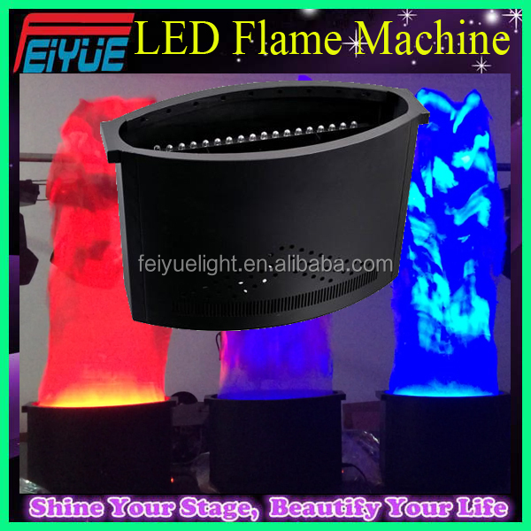 Pro Stage Lighting 1.5 meter Silk Cloth Opening Ceremony 36pcs 10mm LED Flame Machine