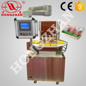 Hongzhan HT-ZT300 3boxes one time rotary type preserving fresh food modified atmosphere packing machine