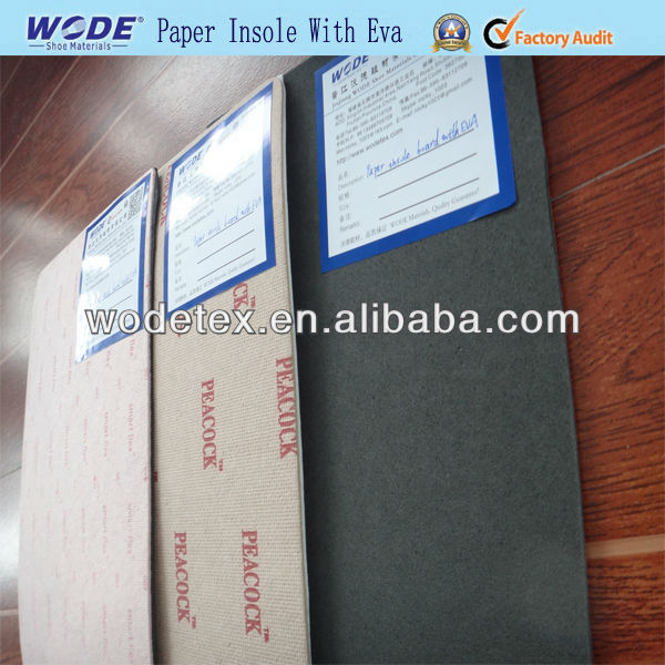 texon insole paper board withEVA,insole paper board for shoes