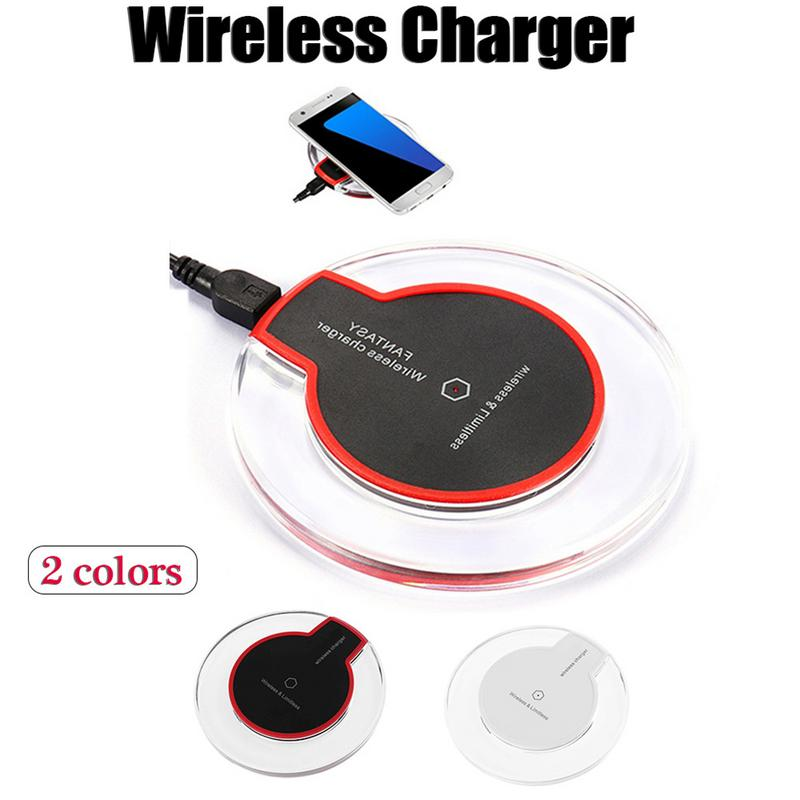 Factory directly sell QI standard charger K9 Crystal wireless charger portable Cellphone charger for iphone for Samsung