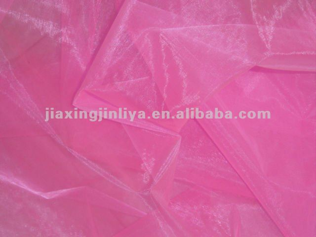 100%polyester organza fabric for costumes and bridal veils