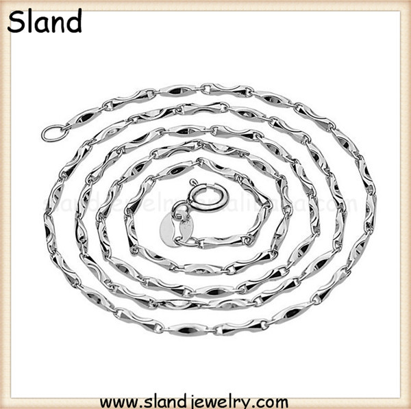 Wholesale hot custom Platinum plating shoe shaped 925 sterling silver chain necklace - Elegant Girl pure chain jewelry