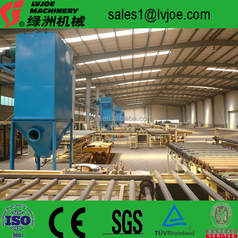 construction material making machinery gypsum board production line with knauf technology supplier