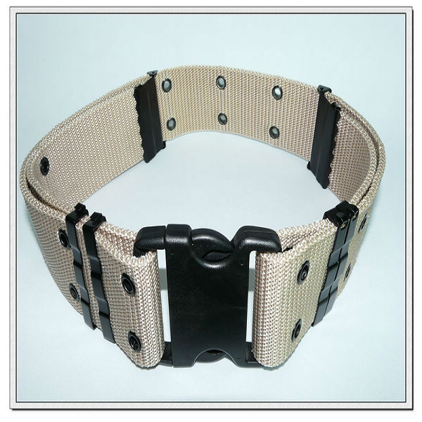 57mm pp military belt with plastic buckle,adjustable belts.custom web belts