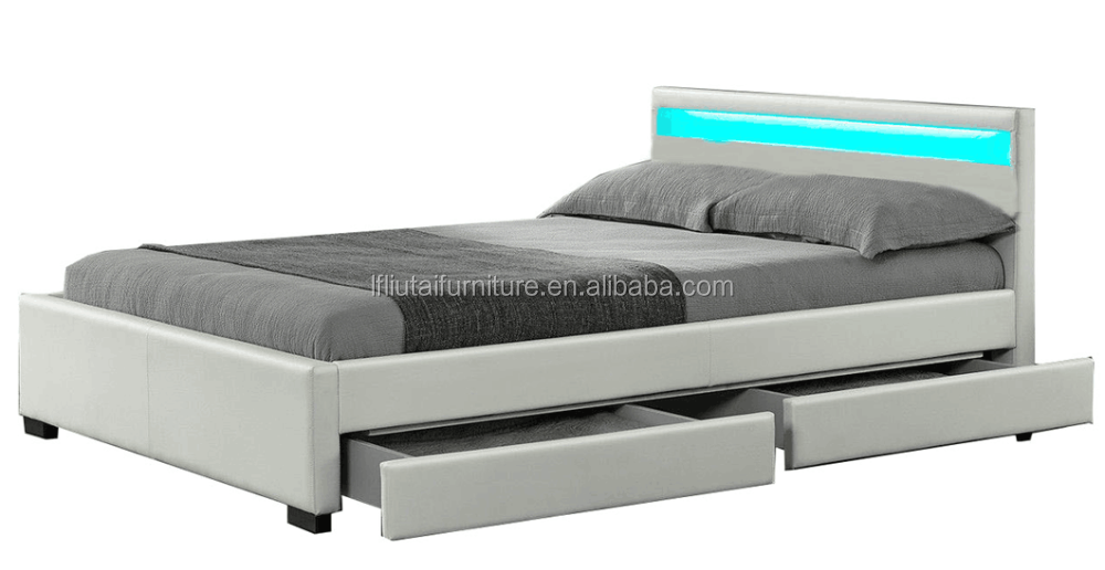 Synthetic Leather Material and Home Bed Specific Use Box spring bed