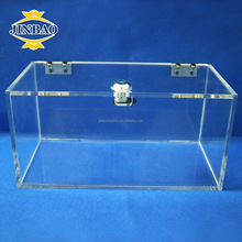 JINBAO 2018 clear luxury acrylic rugby ball display case wholesale