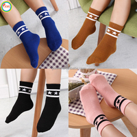 2017 new design high quality custom cotton cheap baby socks wholesale comfortable striped kid socks