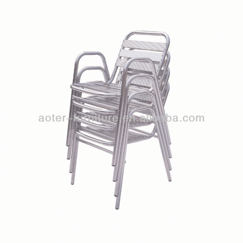 Aluminum garden stacking iron banquet chair