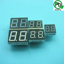Amber Color 0.8 Inch Dual/Two Digits 7 Segment Numeric Display/LED Display