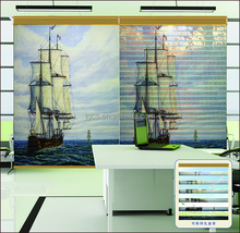 Best selling printed lace pleated shangri-la window shades blinds