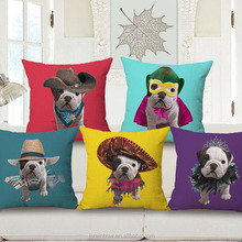 New design custom made animal dog 3d digital printing cushion cover 45*45cm