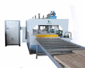HF edge gluer for wooden board/clamp carrier with hydraulic press