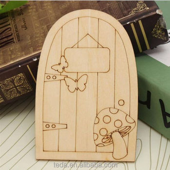 high quality Wooden Fairy Door Ornament