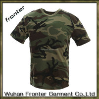 Best price new cotton plain army green t-shirt blank camo t shirts