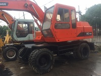 Ready To Work Korea Daewoo Doosan Used Wheel Excavator 140WV For Sale