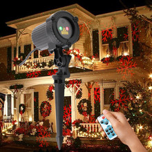 2018 New RG Snowflake Dots Outdoor Christmas Laser Lights