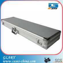 Professional silver abs surface EVA padded gun case