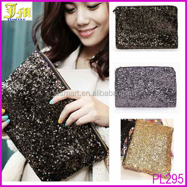 Newest Cheap Fashion Dazzling Women Party Evening Spangle Sequins Clutch Bag Handbag Wallet Purse Ladies