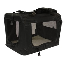 Lightweight Fabric Pet Carrier Crate with Fleece Mat and Food Bag