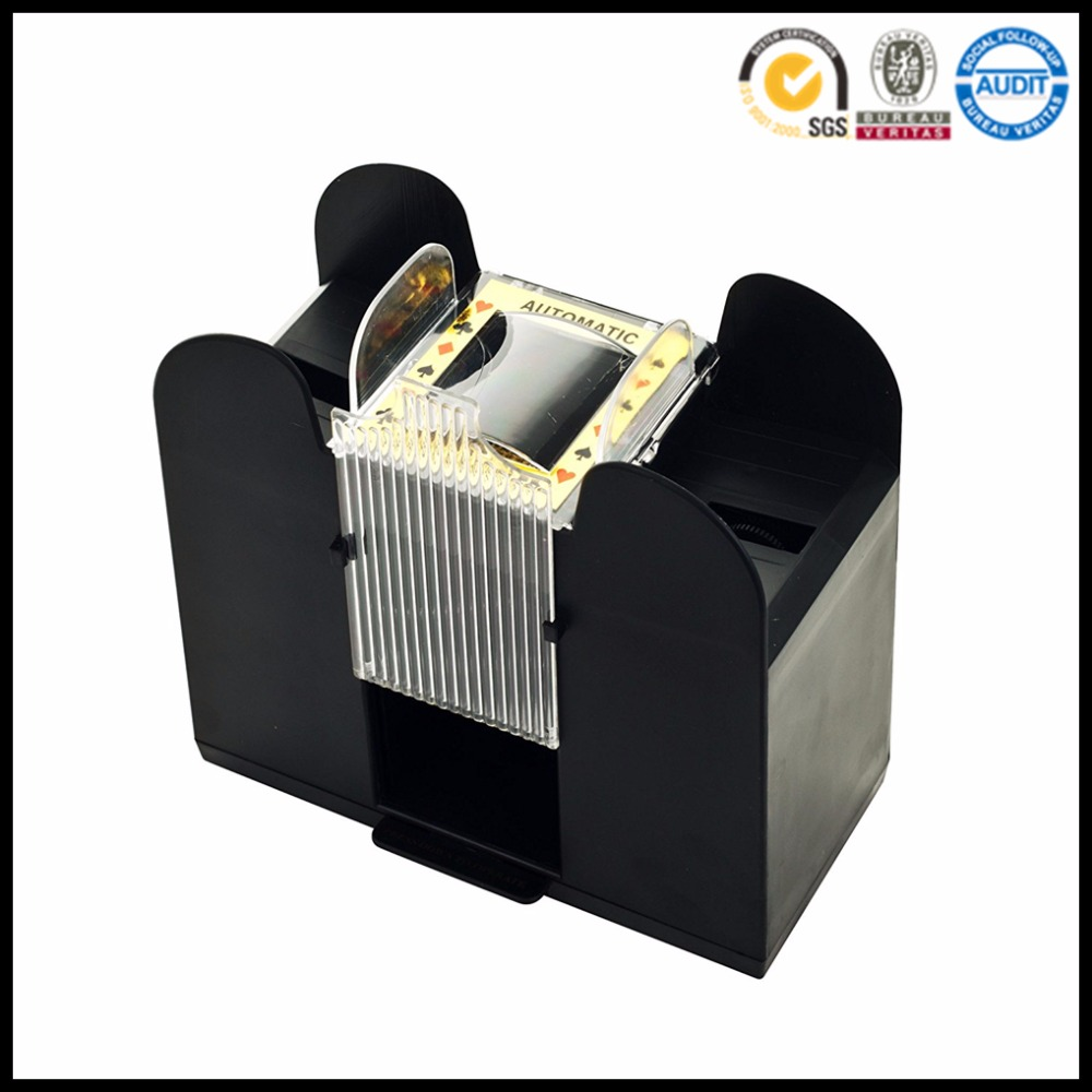 6-Deck Casino Card Shuffler Automatic for all Standard Size Cards