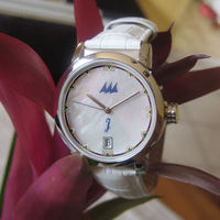 Paloma WW - White MOP dial / White leather strap.