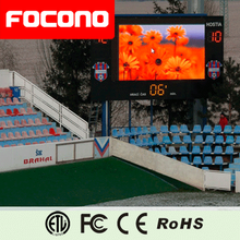 CE Rohs ETL outdoor full color video graphics animation text smd High resolution led electronic tennis scoreboard
