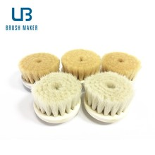 Goat bristle facial brush for beauty machine