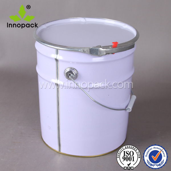 20 liter metal paint drum with ring lock and handle