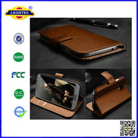 deluxe genuine leather case wallet stand cover with card holder for Nokia lumia 530 Laudtec